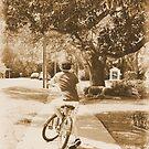 boy on bike by A.R. Williams