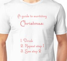 A Guide to Surviving Christmas Unisex T-Shirt