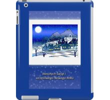 Merry Christmas and Happy New Year in Polish, Winter Village iPad Case/Skin