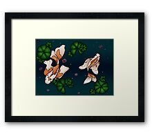Koi and the Lilypads Framed Print