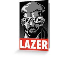 Major Lazer t shirt poster Greeting Card