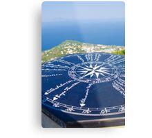 Compass Rose Atop Capri Metal Print