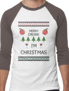 Merry Drunk Men's Baseball ¾ T-Shirt
