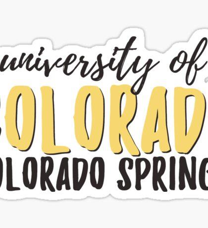 University of Colorado - Colorado Springs Sticker