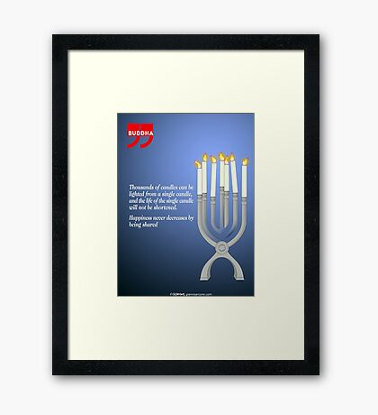 Sharing the Light (Buddha's Quote) Framed Print