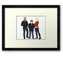 Wooden Swan Family Framed Print