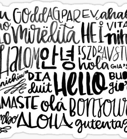 Hello - Languages Sticker