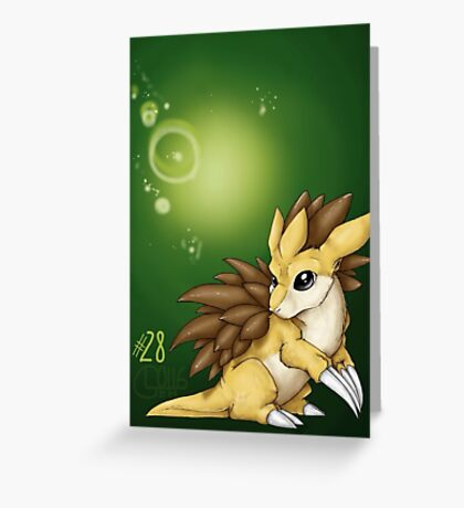 Sandslash Greeting Card