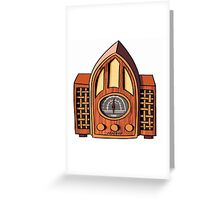 Old time radio Greeting Card