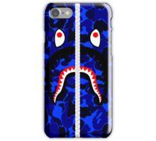 Camouflage Blue Shark Hoodie iPhone Case/Skin
