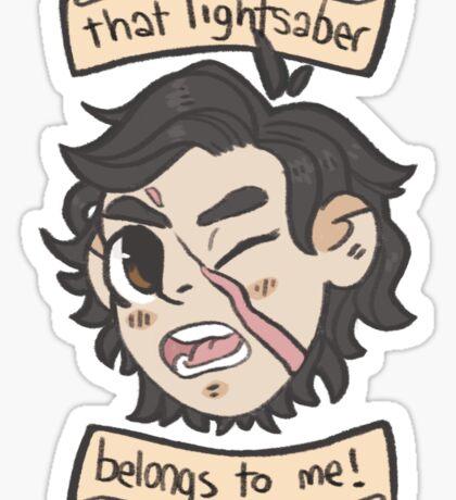 that lightsaber belongs to me! Sticker