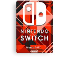 Nintendo Switch Abstract Canvas Print