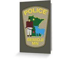 POLICE Bemidji MN Greeting Card