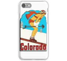 Colorado Skiing Pinup Vintage Travel Decal iPhone Case/Skin