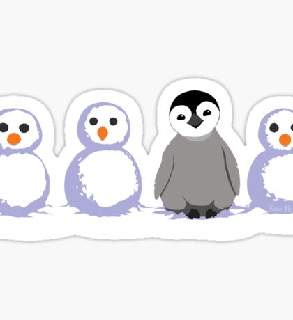 Snow Penguin Sticker