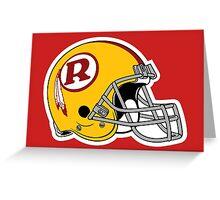 helmet redskins Greeting Card
