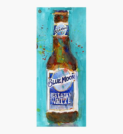 Blue Moon Beer - 2016 Beer Art Print  Photographic Print