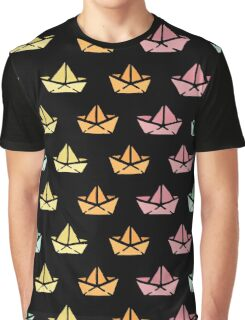 Origami colored boats Graphic T-Shirt