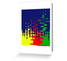 Primary Color Reflections - Blue - Yellow - Red - Green V Greeting Card