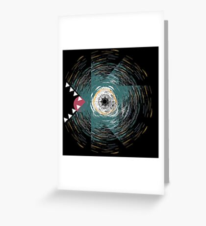 Abstract colored dragon dino reptile art Greeting Card