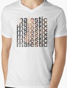 Majestic casual Mens V-Neck T-Shirt