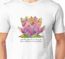 Lotus Flower Inspiring Quote Unisex T-Shirt