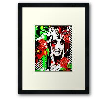 Zombie Queen of Roses Framed Print