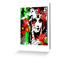 Zombie Queen of Roses Greeting Card
