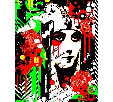 Zombie Queen of Roses Photographic Print