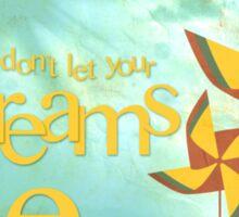 pinwheel daydreams Sticker