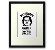Glorious Lord GabeN. May Gabe Newell be praised. PC Master Race Framed Print