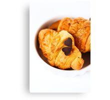 Fresh baked tasty croissant Canvas Print