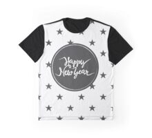 Christmas print with black grunge stars Graphic T-Shirt