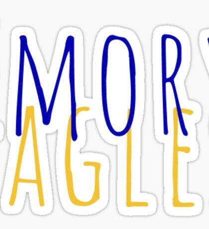 emory eagles Sticker