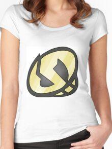 Gold Skull Logo Women's Fitted Scoop T-Shirt
