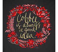 Coffee on Charcoal Photographic Print