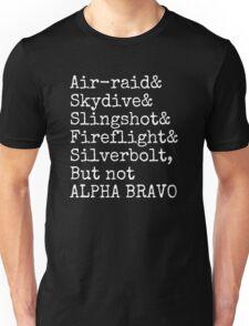 Aerialbots ampersand list alpha bravo Unisex T-Shirt