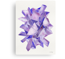Watercolor Amethyst Canvas Print