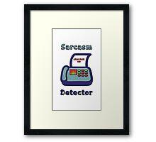 Sarcasm Detector Emoji Framed Print