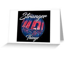 stranger things - tv series netflix Greeting Card