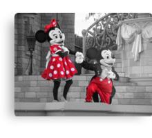 Mickey & Minnie Metal Print
