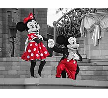 Mickey & Minnie Photographic Print
