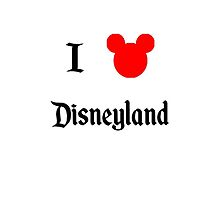 I Love Disneyland by schermer