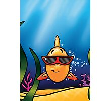 HeinyR- Goldfish with Sunglasses Photographic Print
