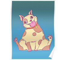 Spud, The Cake Loving Tubby Pitbull Bulldog Mutt Poster