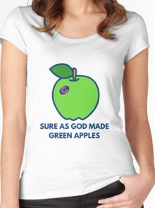 Chicago Cubs World Series Green Apples Women's Fitted Scoop T-Shirt