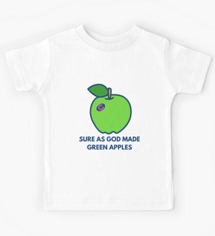 Chicago Cubs World Series Green Apples Kids Tee
