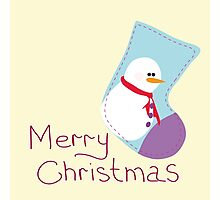 Greeting card with Christmas Photographic Print