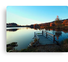 Indian summer sunset at the fishing lake II | waterscape photography Canvas Print
