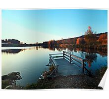 Indian summer sunset at the fishing lake II | waterscape photography Poster
